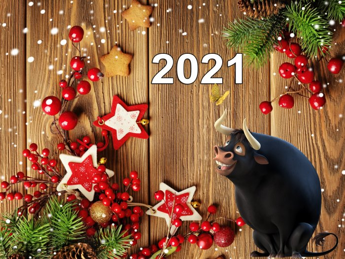Новогодние обои для поднятия настроения новый год, обои, 2021.