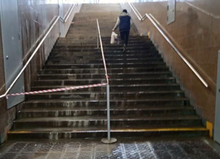 Новый день и старые проблемы: на «Дунайской» опять протекли стены