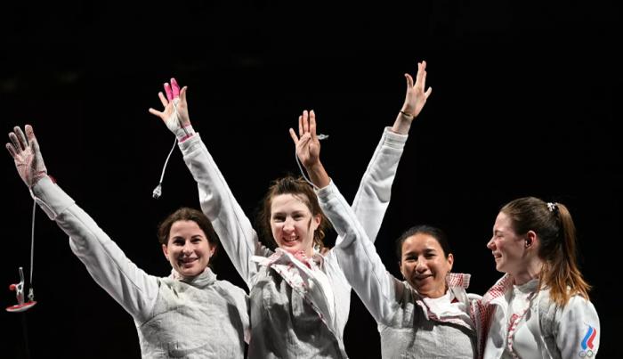 Российские рапиристки завоевали золото в командном турнире Олимпиады
