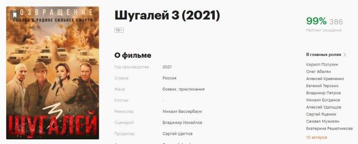 99% российских киноманов ждут премьеры «Шугалей-3. Возвращение»